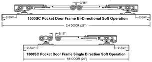 Johnson Hardware 1500sc Soft Close Pocket Door Frame Johnsonhardware Com Sliding Folding