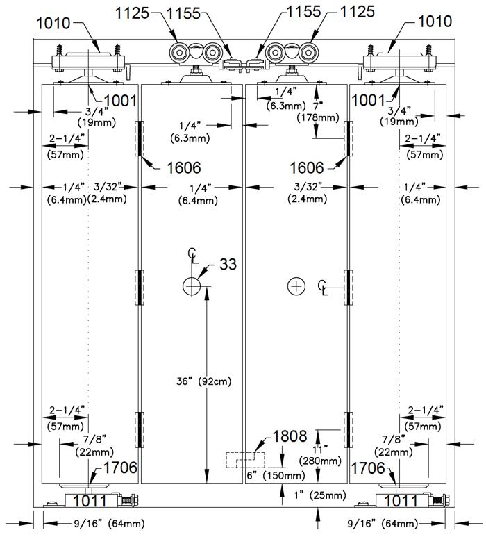 Johnson Hardware 100FD Bi-Fold Door Hardware | Johnsonhardware.com ...