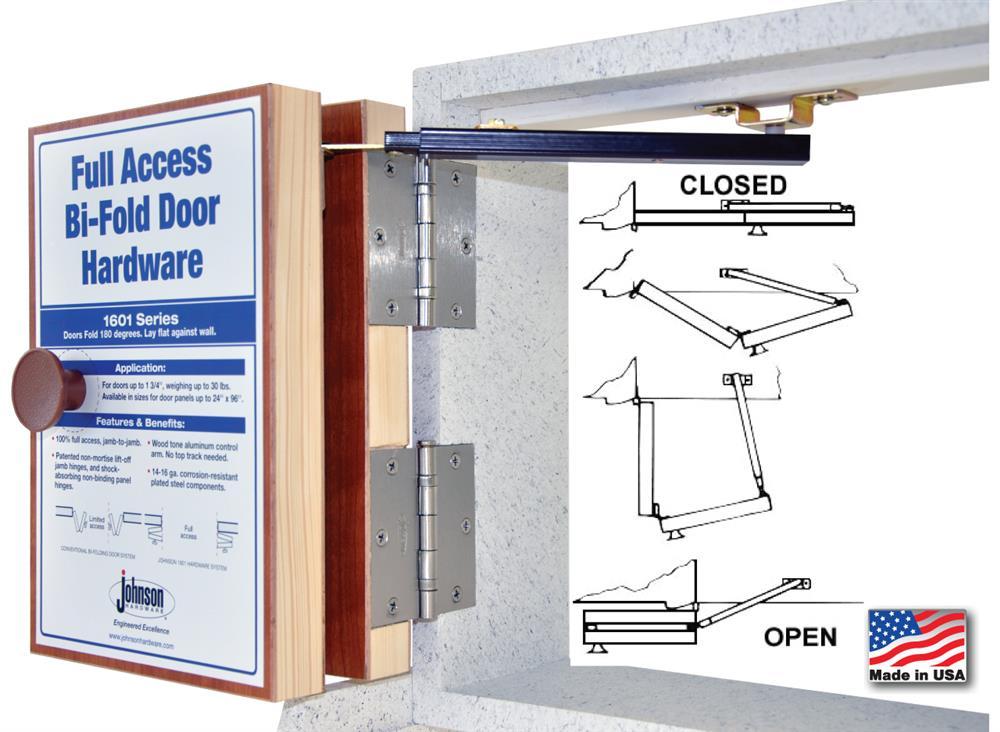 Johnson Hardware 1601 Full Access Bi Fold Door Hardware