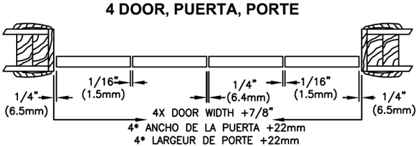 4 Panel Width Dimensions