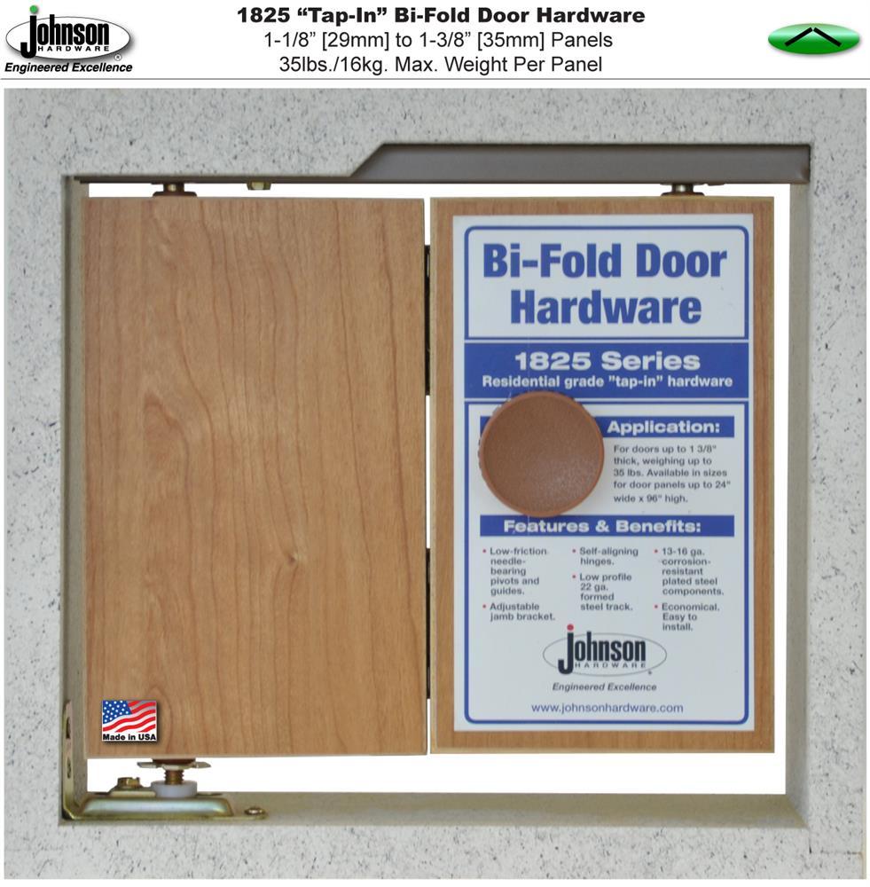 Johnson Hardware 1825 Tap-In Bi-Fold Door Hardware | Johnsonhardware ...