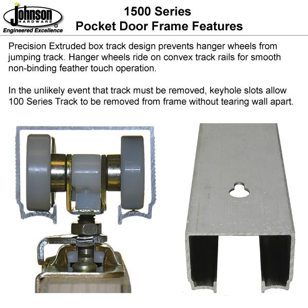 Superior Jump Proof Box Track. Pocket Door Guiding Options