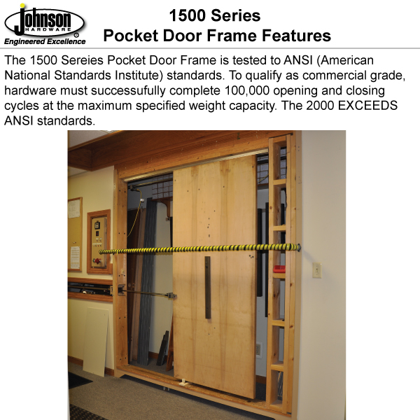 1500HD Series Pocket Door Frames | Johnsonhardware.com | Sliding ...