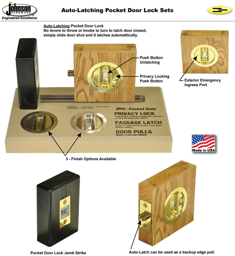 Universal Handing, One Lock Functions In Both Right Or Left Slide  Direction. Ideal For Both Single Or Converging Pocket Door Applications.