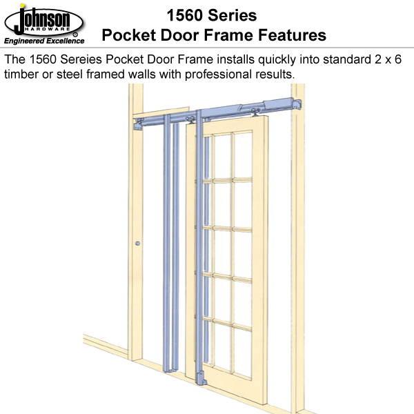 Johnson Hardware 1560 Pocket Door Frame | Johnsonhardware.com | Sliding |  Folding | Pocket Door Hardware