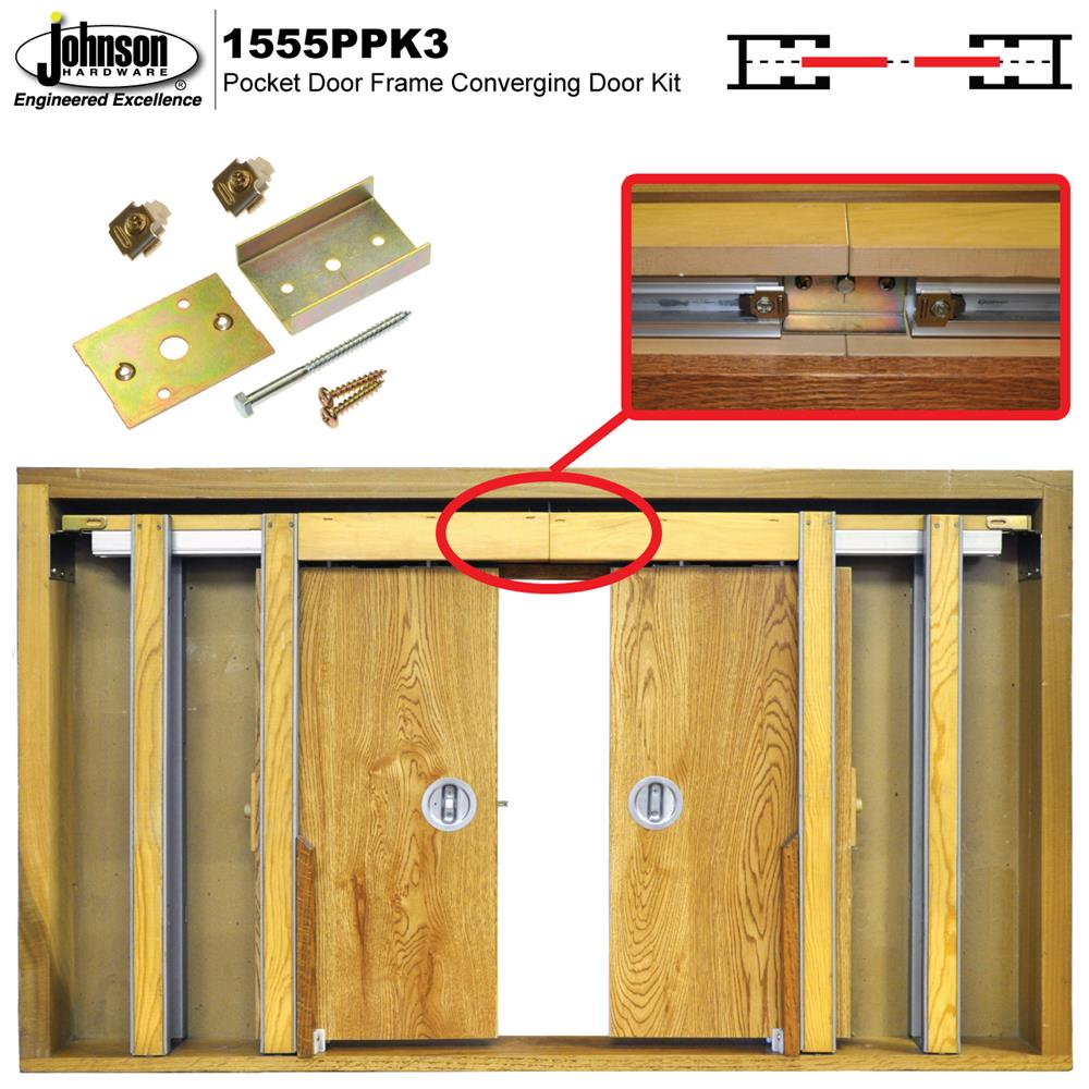 1555ppk3 Converging Door Kit Johnsonhardware Sliding