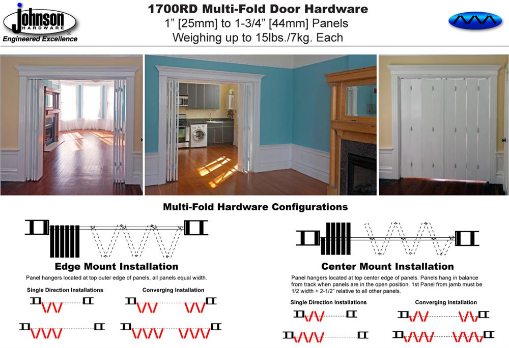 Johnson Hardware 1700RD Multi-Fold Door Hardware | Johnsonhardware ...