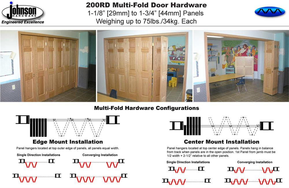 Johnson Hardware 200RD Multi-Fold Door Hardware | Johnsonhardware ...
