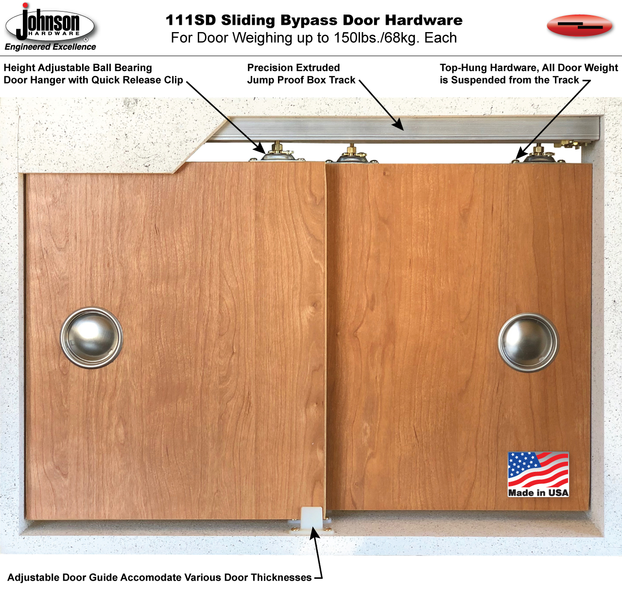 sliding doors and mount wall door in hardware track johnson series set pin for