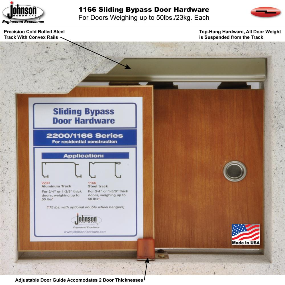 1166 Sliding Bypass Door Hardware Johnsonhardware Sliding