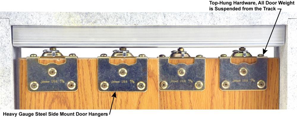 134f series sliding bypass door hardware