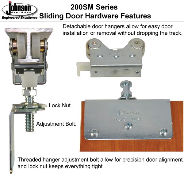 johnson hardware 200sm side mount sliding bypass door hardware sliding. Black Bedroom Furniture Sets. Home Design Ideas