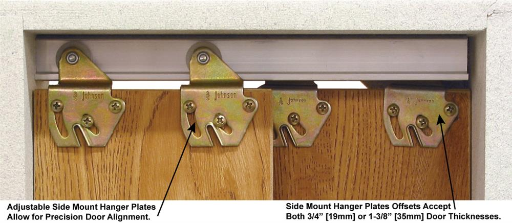 Charmant 2200 Series Sliding Bypass Door Hardware