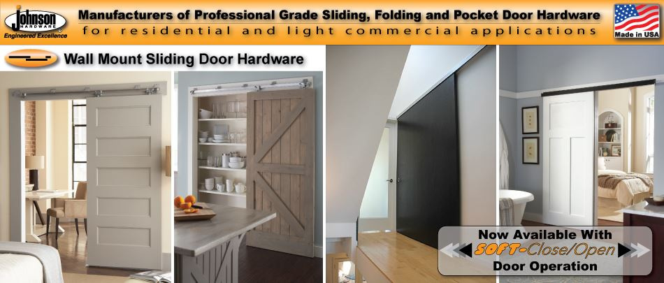Wall Mounted Sliding Door Hardware johnsonhardware sliding | folding | pocket door-hardware