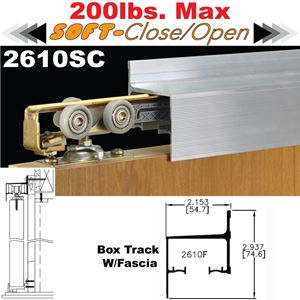 Picture of 2610SC Soft-Close Wall Mount Sliding Door Hardware