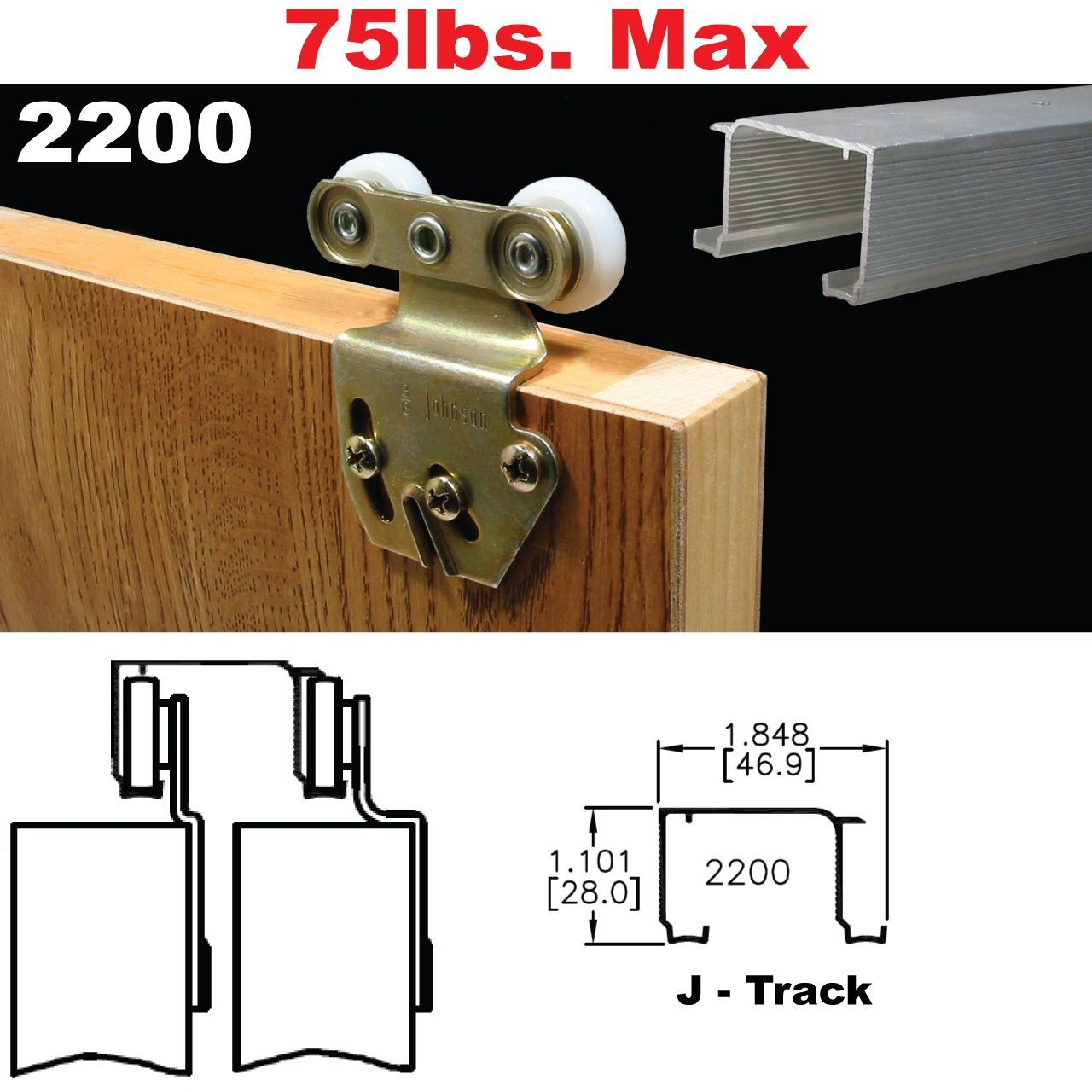 Johnson Hardware 2200 Sliding Bypass Door Hardware Johnsonhardware