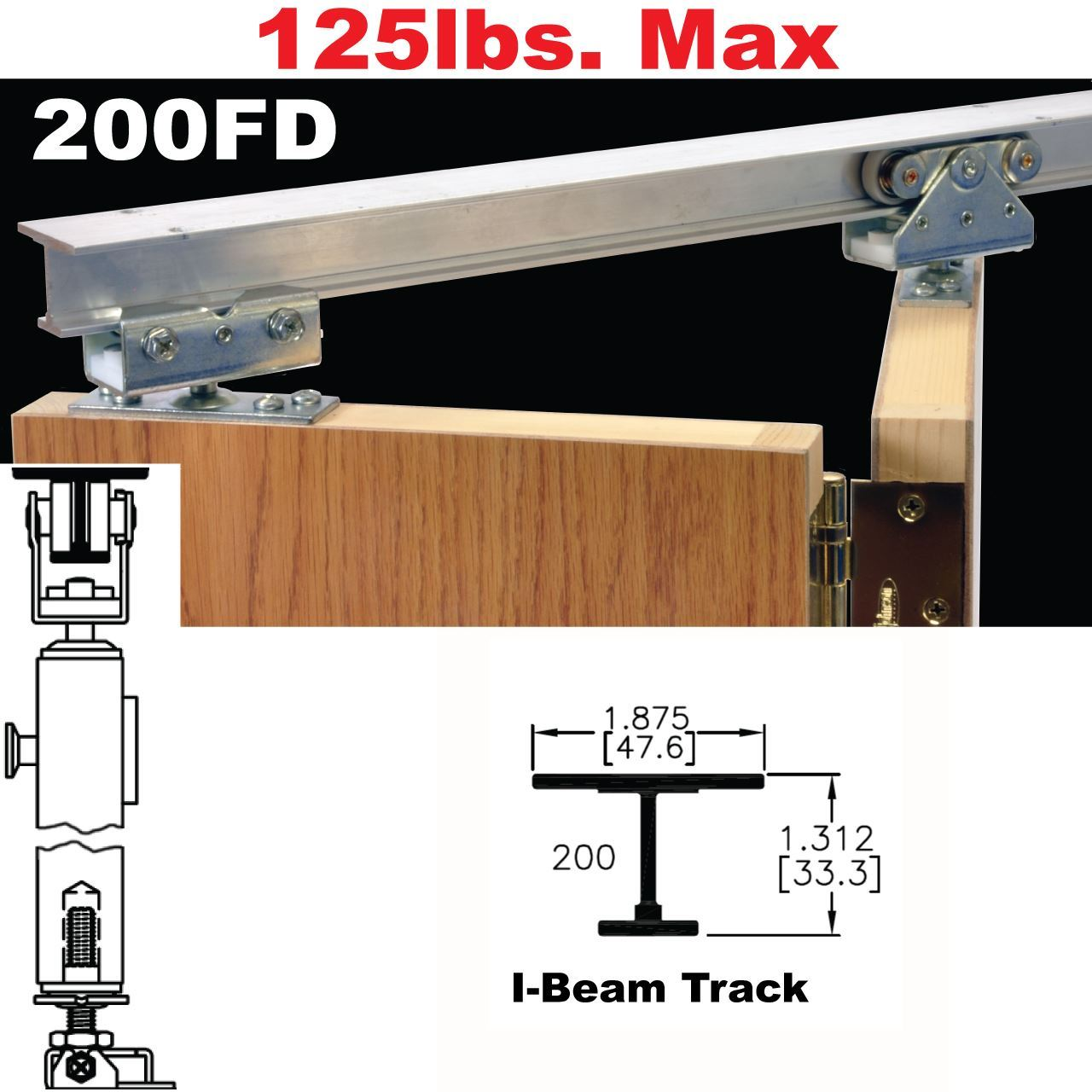 200FD Bi Fold Door Hardware