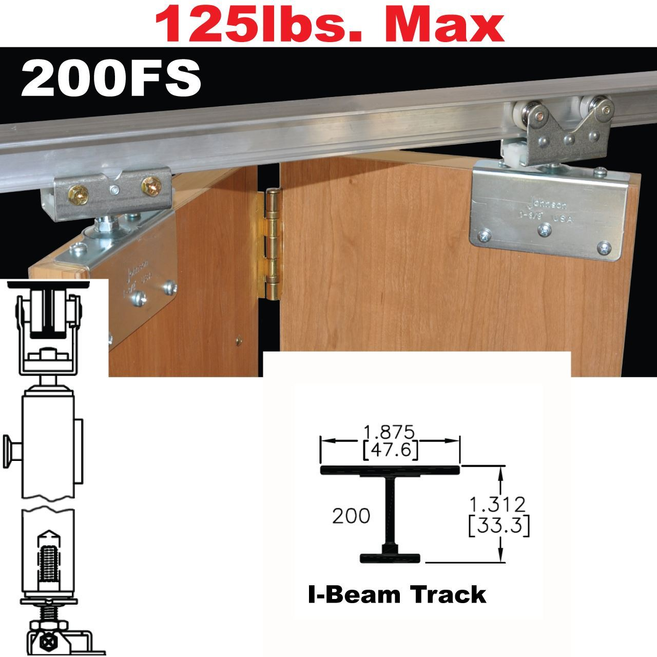 Johnson Hardware 200FS Side Mounted Bi-Fold Door Hardware ...