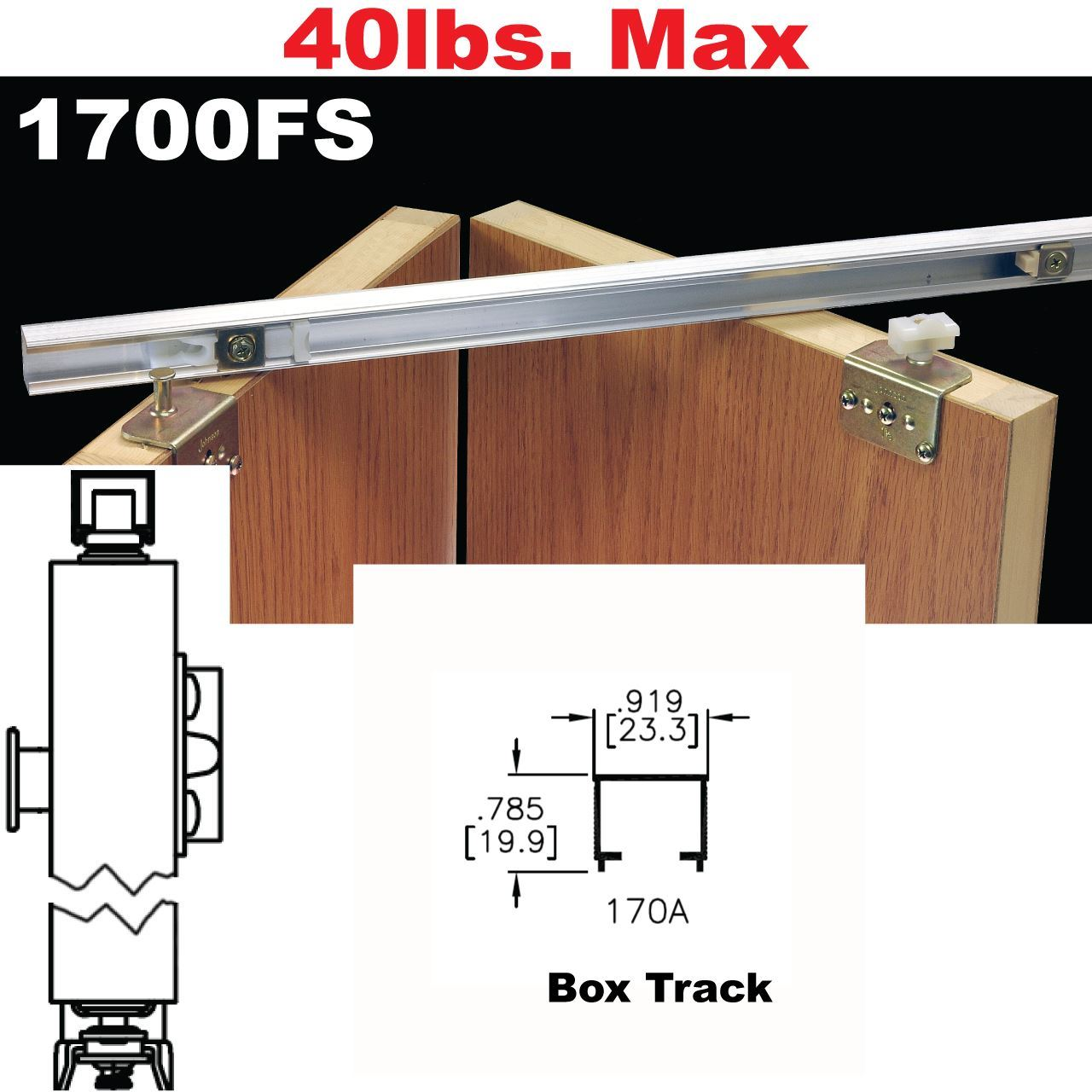 Johnson Hardware 1700fs Side Mounted Bi Fold Door Hardware