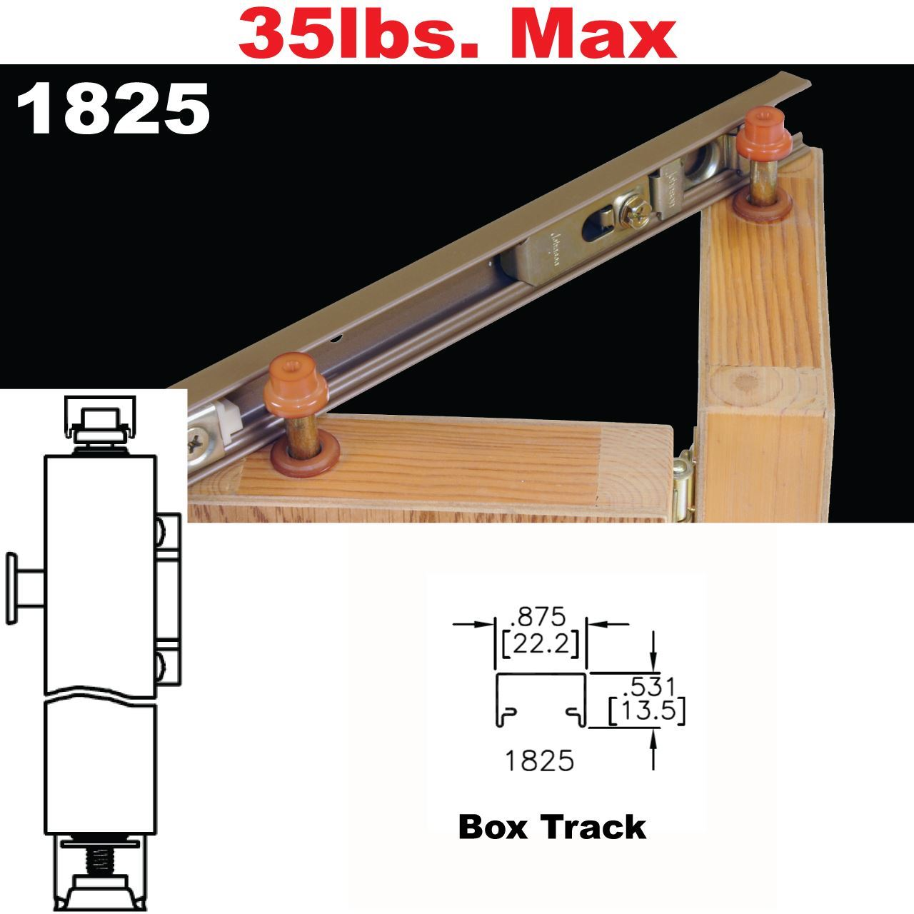 Johnson Hardware 1825 Tap-In Bi-Fold Door Hardware | Johnsonhardware ...