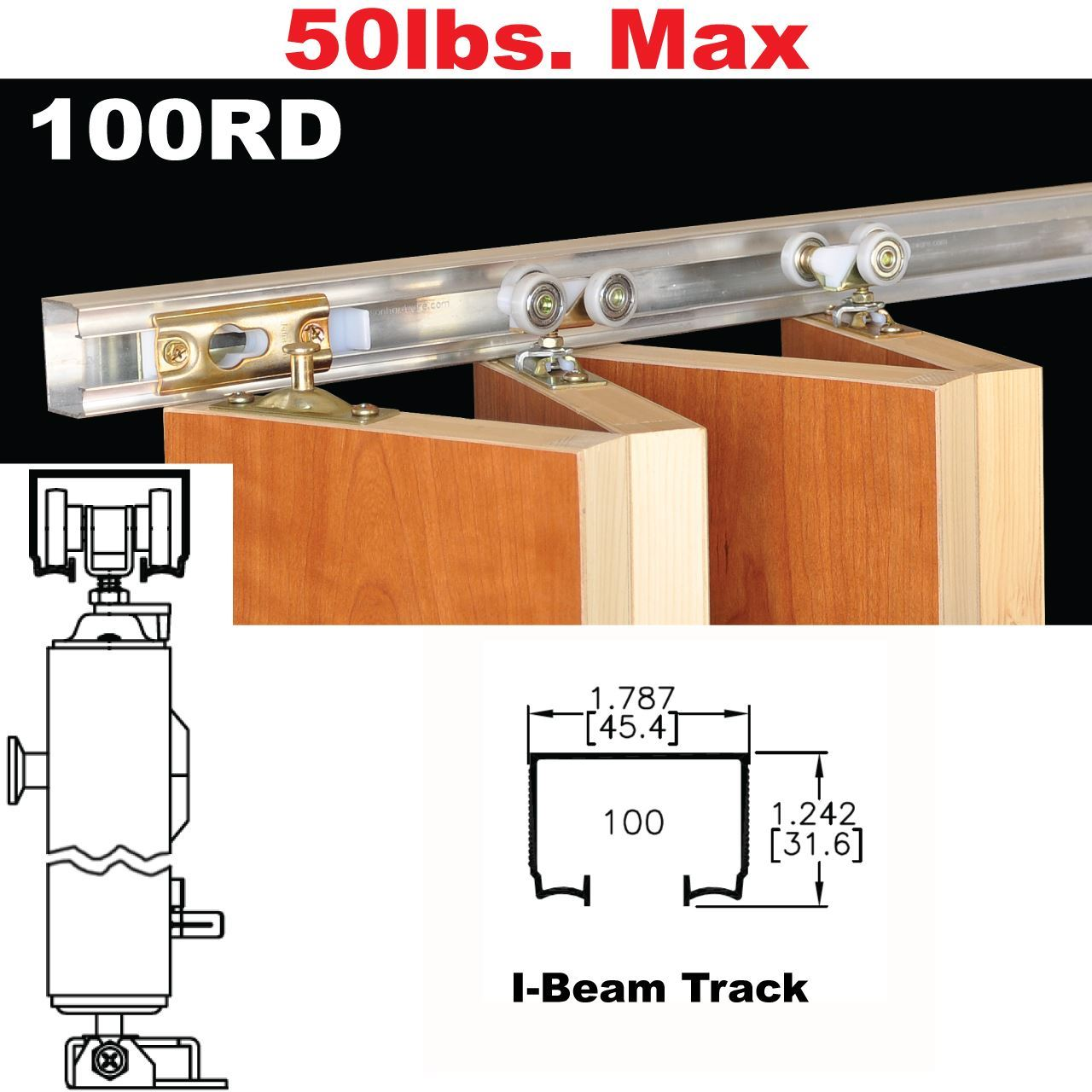 Johnson Hardware 100rd Multi Fold Door Hardware