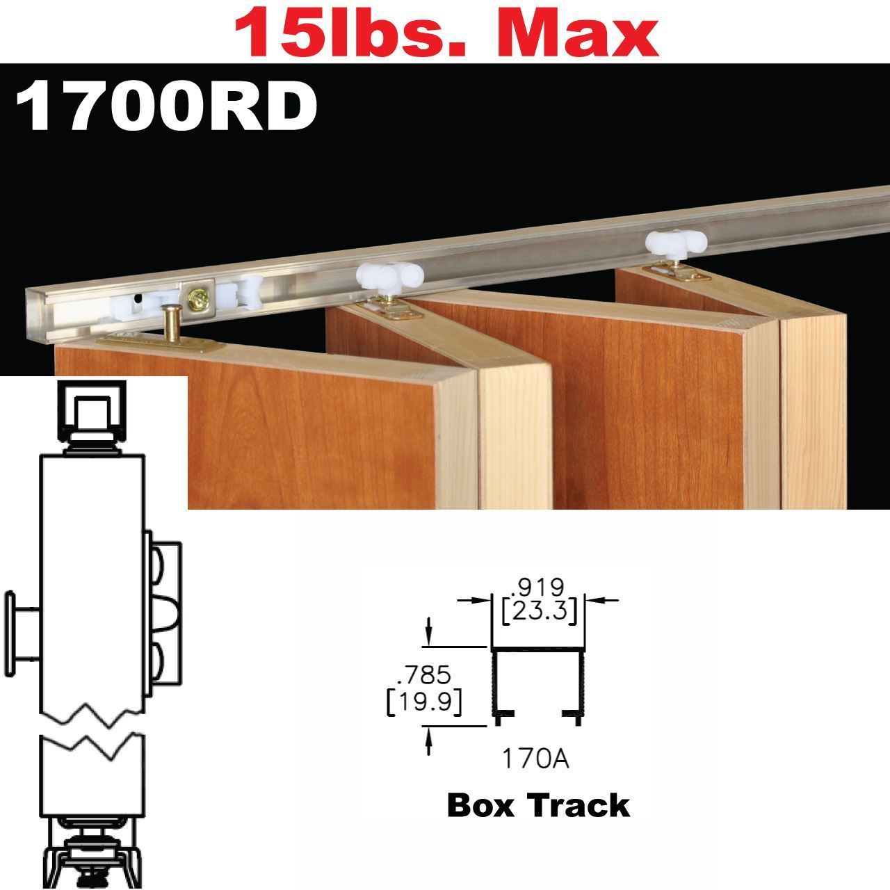 Johnson Hardware 1700rd Multi Fold Door Hardware