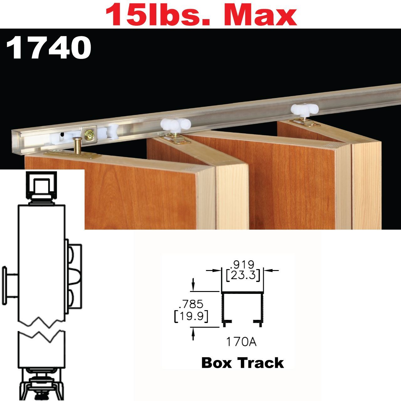 Johnson Hardware 1740 Multi Fold Interior Shutter Hardware