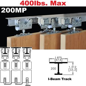 Picture of 200MP Tri-Pass Pocket Door Hardware