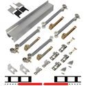"""Picture of 2610S242 2 - 24"""" Door Soft-Close Hardware Set, Mill Finish Track"""