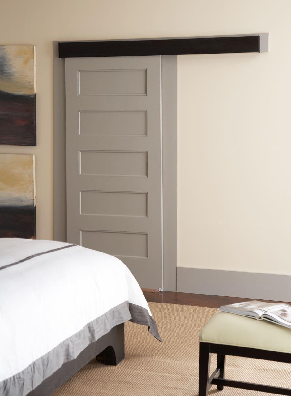 200wf wall mounted sliding door hardware johnsonhardware for Sliding door walls