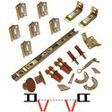 "Picture of 1825 15"" 4-Panel Hardware Set, Brown Track"