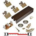 """Picture of 138F 36"""" 2-Door Side Mount Hardware Set, Bronze Track"""