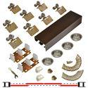 """Picture of 138F 24"""" 4-Door Side Mount Hardware Set, Bronze Track"""
