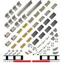"""Picture of 200WG 36"""" 2-Door Hardware Set, Spliced Track"""