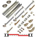 "Picture of 100SDSC 48"" 2-Door Soft-Close Sliding Bypass Hardware Set"