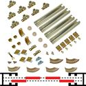 "Picture of 100BC 36"" (1-3/4"") x 4-Door Bypass Pocket Door Hardware Set"