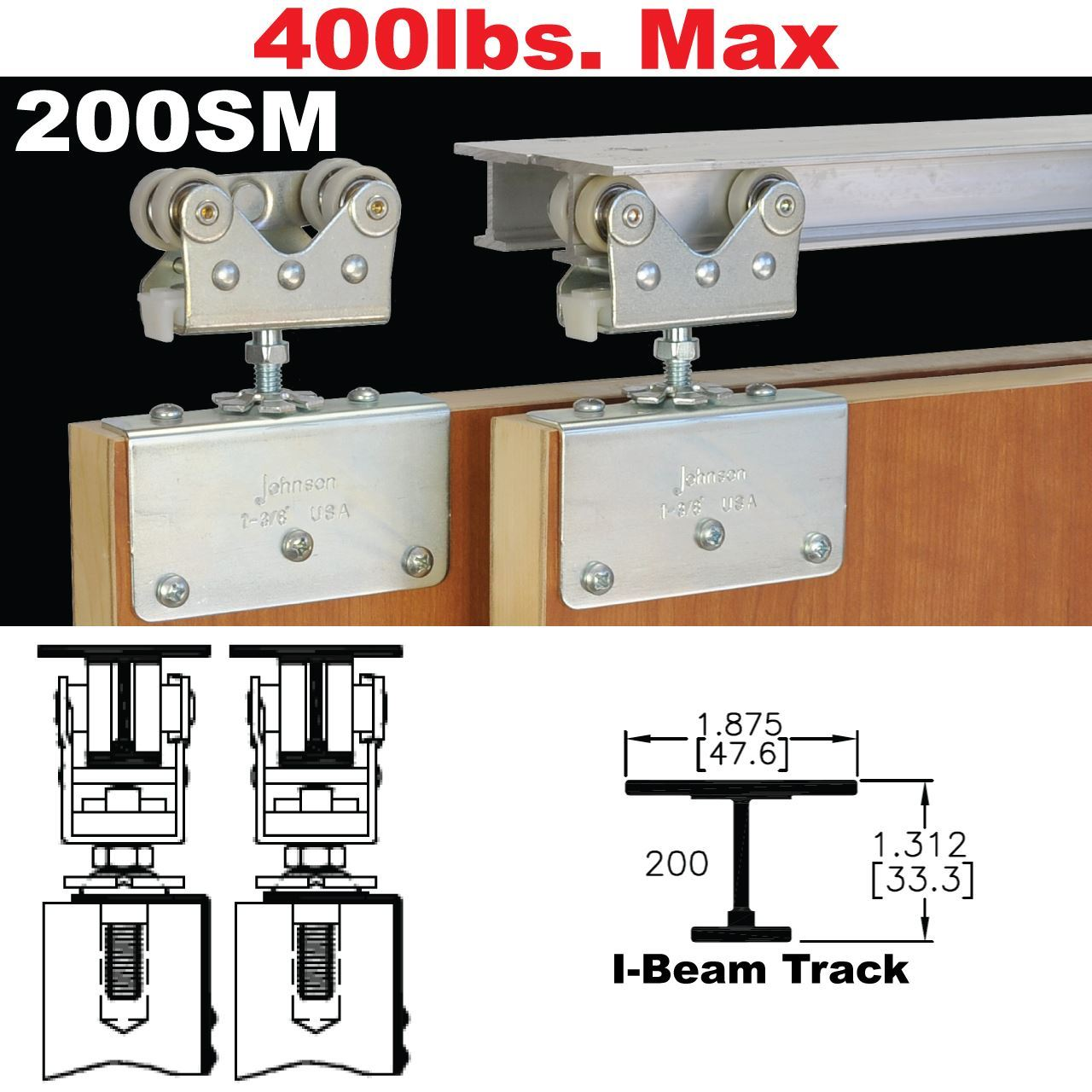 sliding door hardware. Picture Of 200SM Side Mount Sliding Bypass Door Hardware