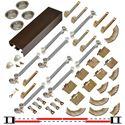 """Picture of 138FSMSC 24"""" 4-Door Side Mount Soft-Close Hardware Set, Bronze Track"""