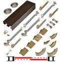 """Picture of 138FSMSC 36"""" 2-Door Side Mount Soft-Close Hardware Set, Bronze Track"""