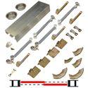 """Picture of 138FSMSC 30"""" 2-Door Side Mount Soft-Close Hardware Set"""