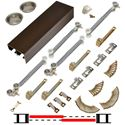 "Picture of 138FSC 24"" Soft-Close 2-Door Hardware Set, Bronze Track"
