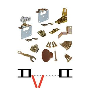 """Picture of 1131FD35 2-Panel Side Mount Part Set WO/Hinges, 3/4"""" [19mm] Panels"""