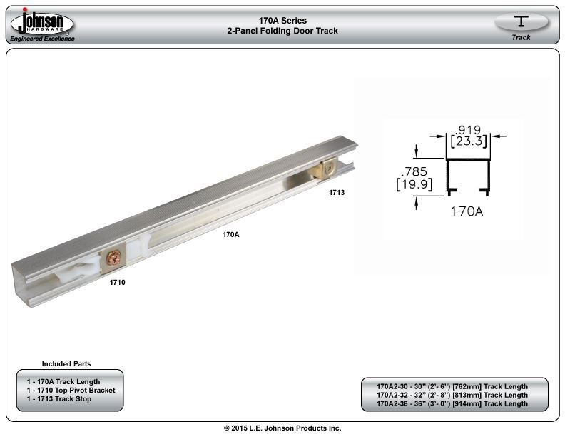 170A Series Folding Door Track | Johnsonhardware.com | Sliding ...