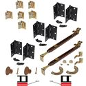 "Picture of 1601 24"" 4-Panel Hardware Set, US10B"