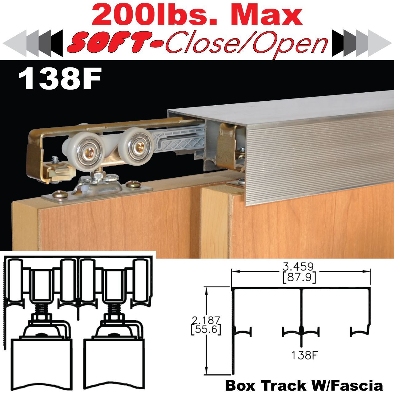 Johnson Hardware 138f Sliding Bypass Door Hardware